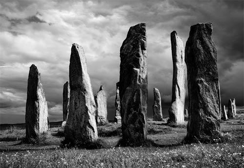 callanish stones black and white