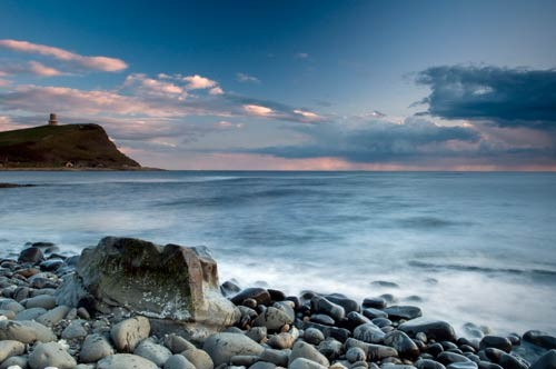 Distant Storm Kimmeridge lighthouse