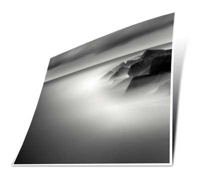black and white poster art