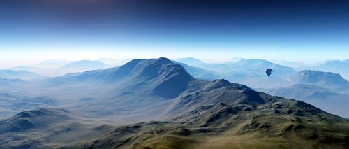 Panoramic Distant Mountains