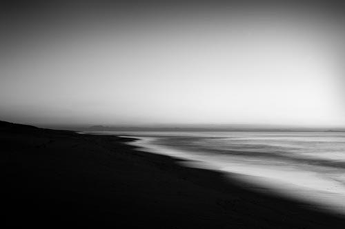 Black & White Night Coast
