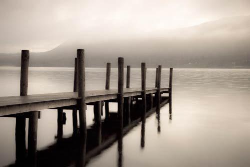 Black & White Jetty in the Mist