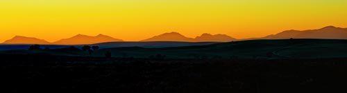 Panoramic Snowdonia Sunset