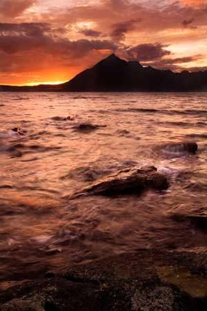 Seascapes Sunset Over Elgol