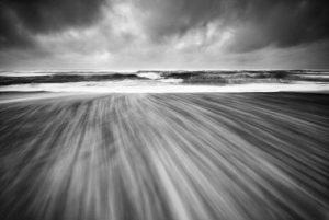 Black & White Wave Action