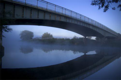 Fine Art Bridge in Blue
