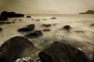 Seascapes Cap Negret Monochrome