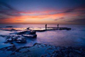 Seascapes Fishing at Sunrise