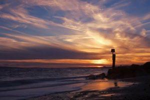 Seascapes Poole Bay Golden Sunset