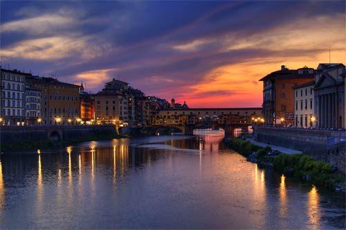 Fine Art Ponte Vecchio Sunset