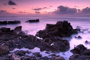 Seascapes Rocky Beach at Twilight