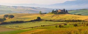 Panoramic Tuscan Dawn